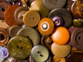 Old brown buttons Royalty Free Stock Photo