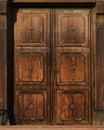 Old brown doors Royalty Free Stock Photo