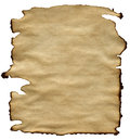 Old brown paper texture isolated on white background Stock Photography