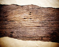 Old brown paper on wood Royalty Free Stock Photo