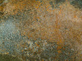 Old brown rusty metal plate is aged and corroded. Texture of grungy frame and corrosion stain. Royalty Free Stock Photo
