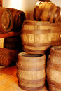 Old brown wooden barrel Stock Photos