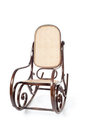 Old brown wooden rocking chair Royalty Free Stock Images