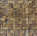 Old brown woven bamboo close up texture Stock Images