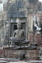 Old Buddha statue Stock Photos