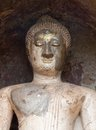 The old buddha statue . Royalty Free Stock Images