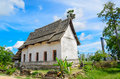 Old buddhist church in thai temple Stock Photography