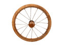 Old buggy wheel rusty from baby carriage Royalty Free Stock Photos