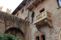 Juliets balcony verona old building Royalty Free Stock Photo