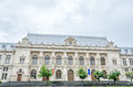 The old building, Courthouse of Bucharest. Royalty Free Stock Photo
