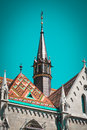 Old building of European church, Hungary. Budapest. Royalty Free Stock Photo