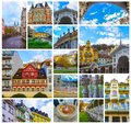 Building facades in Karlovy Vary, Czech Republic Royalty Free Stock Photo