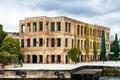 Old building in istanbul on the coast of bosphorus strait turkey Stock Image