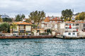 Old building in istanbul on the coast of bosphorus strait turkey Stock Photography
