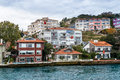 Old building in istanbul on the coast of bosphorus strait turkey Royalty Free Stock Photos