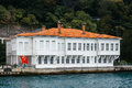 Old building in istanbul on the coast of bosphorus strait turkey Royalty Free Stock Images