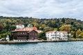 Old building in istanbul on the coast of bosphorus strait turkey Stock Photo