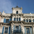 Old building in jugendstyle art nouveau in riga latvia june beautiful on alberta street Royalty Free Stock Images