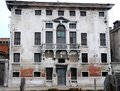 Old building overlooked in murano in the town of venice veneto italy photo made with an ancient veneziaveneto picture shows facade Stock Images