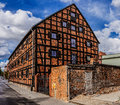 Old building of red brick. Bydgoszcz, Poland Royalty Free Stock Photo