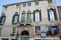 Old building in venice on the island of dorsoduro historic part of italy Royalty Free Stock Photo