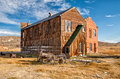 Old buildings in bodie ghost town california usa Royalty Free Stock Photography