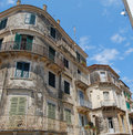 Old buildings in Corfu town Stock Photography