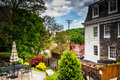 Old buildings in Ellicott City, Maryland. Royalty Free Stock Photo