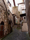 Old buildings stone in anagni medieval town italy Royalty Free Stock Photo