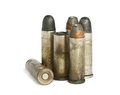 Old bullets isolated on white background Stock Photography