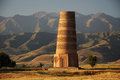 Old burana tower kyrgyzstan located on famous silk road Stock Photo