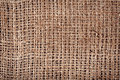 Old burlap fabric texture Royalty Free Stock Photo