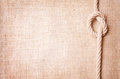 Old burlap and knot Royalty Free Stock Photo