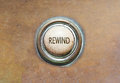 Old button rewind grunge image of an Stock Images