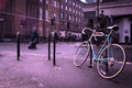 Old bycicle on the steet of citty Royalty Free Stock Photo