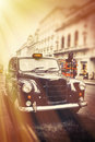 Old cab a london city Royalty Free Stock Photography