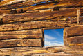 Old Cabin Window Royalty Free Stock Photography