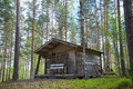 Old cabin in the woods wooden Royalty Free Stock Image