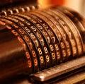 Old calculating machine Stock Photo