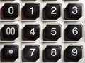 Old Calculator Buttons With Numbers Royalty Free Stock Photo