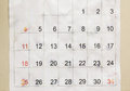 Old calendar paper Royalty Free Stock Photo