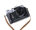 Old camera isolated on a white background Stock Image