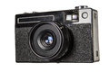 Old camera, isolated on white background,with clipping path Royalty Free Stock Photo