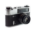 Old camera the russian in good condition isolated on a white background Royalty Free Stock Images