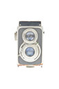 Old camera with two lenses Royalty Free Stock Photography