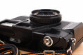 Old camera, vintage camera films popular in the past. Royalty Free Stock Photo