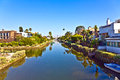 Old canals of venice in california beautiful living area build by abbot kinney Stock Image