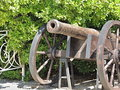 An old cannon on the black sea coast yalta crimea Royalty Free Stock Photos