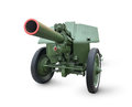 Old cannon isolated on a white background Royalty Free Stock Image