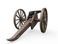 Old cannon isolated on white background d render Royalty Free Stock Photography